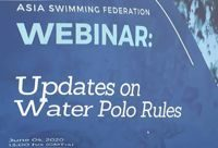 Webinar on updates on the Water Polo Rules. Summary