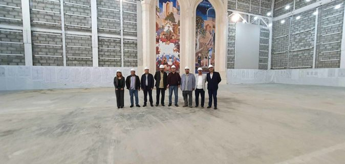 ASF working delegation visited the swimming pool under construction of the School of Higher Sports Excellence in Water Sports and the Center of Islamic Civilization
